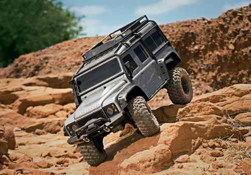 Traxxas trx-4 land rover defender crawler, gris 1/10
