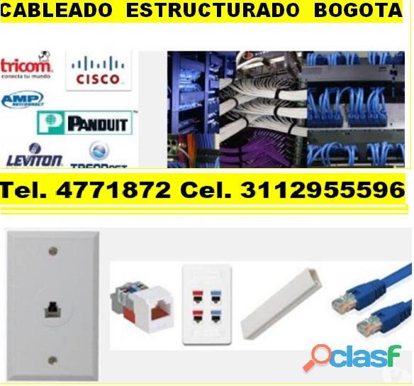 Cableado estructurado Bogotá, Instalación de puntos de red, electricos, de voz,