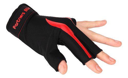 Guante De Billar 3 Dedos Rojo Negro De Danza Baile Bailar
