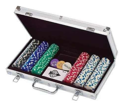 Poker prefesional set 300 fichas spin master maletin metal