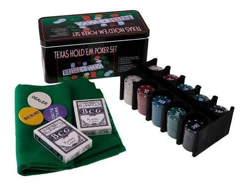 Poker texas holdem 200 fichas estuche de lujo