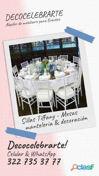 Mobiliario para eventos y decoraciones espectacular colombia