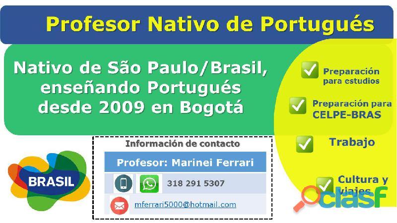 Profesor de portugués nativo de são paulo / brasil