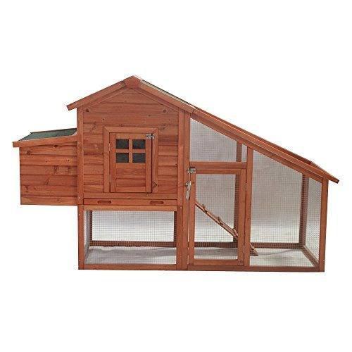 Aleko accrh75x26x46 casa de mascotas de madera chicken coop