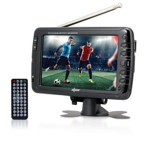 Axess 7 Pulgadas Ac Dc Tv Lcd Con Sintonizador Atsc Batería