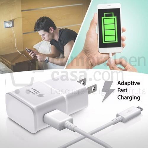 Cargador celular tablet carga rápida 3.0a micro usb