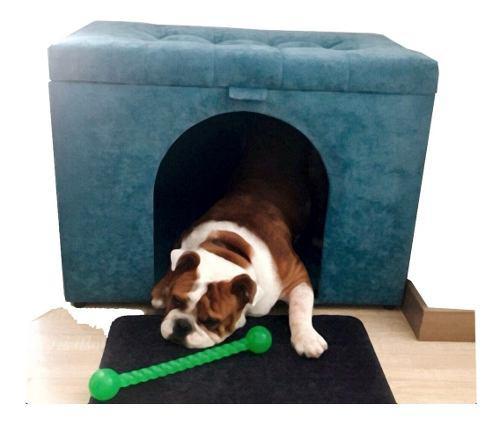 Casa para perro baúl con colchoneta