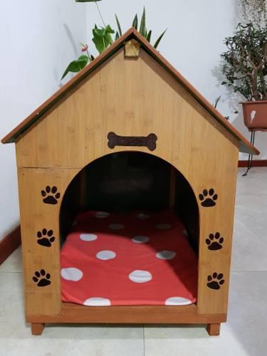 Casa Para Perro Mediano O Pequeño De Madera