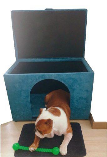 Casa perro baúl doble función banzay
