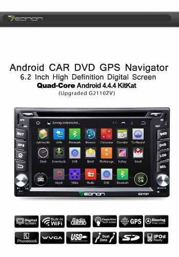 Eonon - Radio Carro Android 4.4 - 6.2 Pulg. 2 Din - Gps Wifi