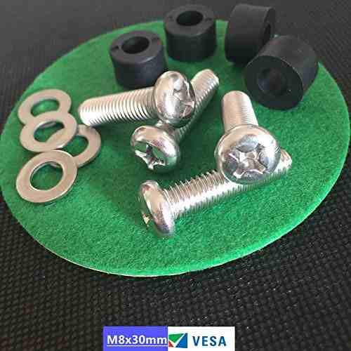 Sesco M8x30mm Montaje En Paredbracket A Tv Screwsbolt Con Es