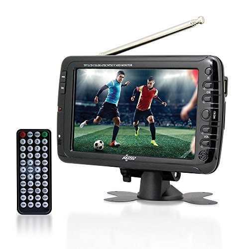 Tv Lcd Con Sintonizador Atsc Batería Recargable Axess 7