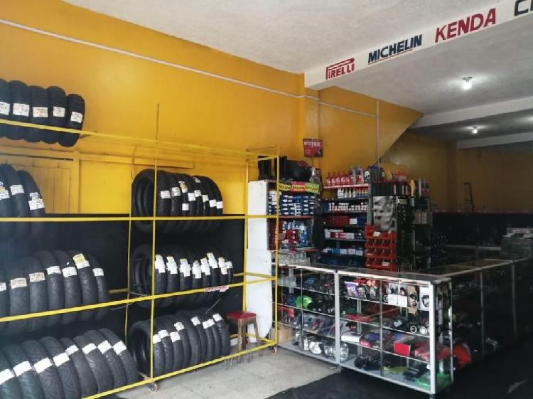 Almacen y taller de motos rentable