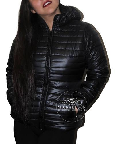 Chaqueta acolchada impermeable capota removible mickaelson