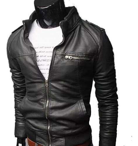 Chaqueta Cuero Hombre Biker | 100% Cuero Real Autentico