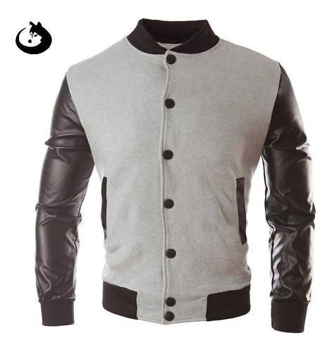 Chaqueta de cuero sintetico original abrigo buzo buso maxi®
