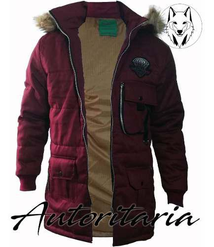 Parka-chaqueta Para Hombre, Acolchada, Antifluidos Capota