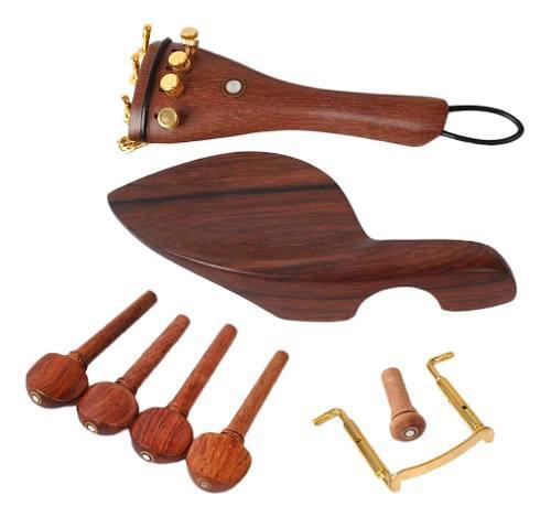 Set de rosewood 4/4 violin parts chinrest clavijas de