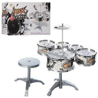 Set Kit De Batería Musical Tambores Bongos + Platillo +