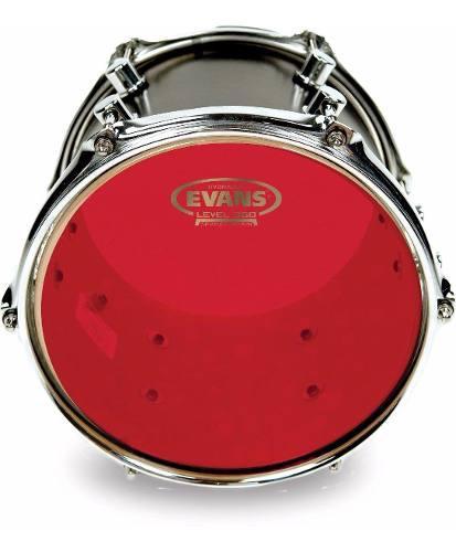 Set Parches Fusion Evans Hydraulic Rojos Para Bateria