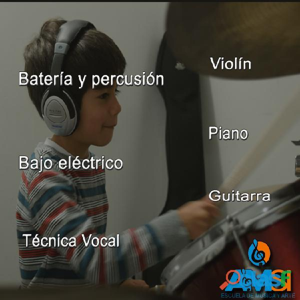 CURSO DE MÚSICA PARA NIÑOS Guitarra, piano, canto, violín,batería,