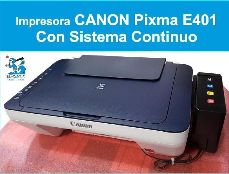 Solo por hoy gran promoción canon e401 -sistema de tinta de