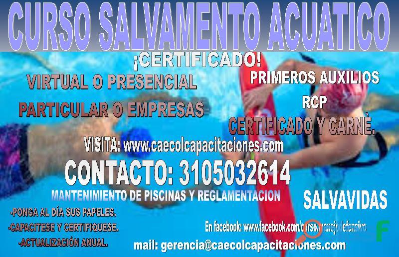 "Curso salvamento acuático ""salvavidas"""