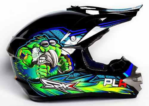 Casco plr motocross cross enduro off road niños adultos