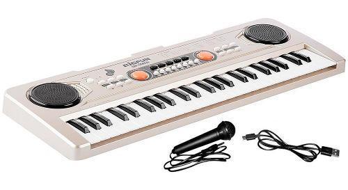 Teclado organeta piano electrónico 49 teclas + micrófono