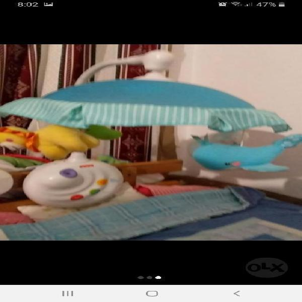 Movil cuna fisher price proyector