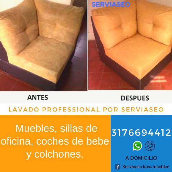 Lavado de muebles domicilio 3176694412 (whatsapp y llamadas)