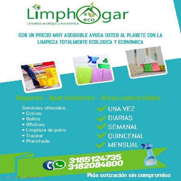 Servicios de limpieza economicos con productos ecológicos.