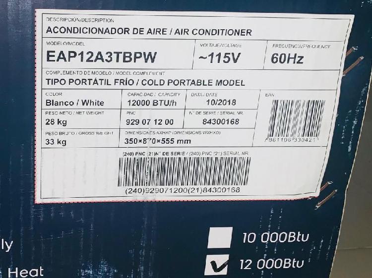 Aire acondicionado portatil electrolux