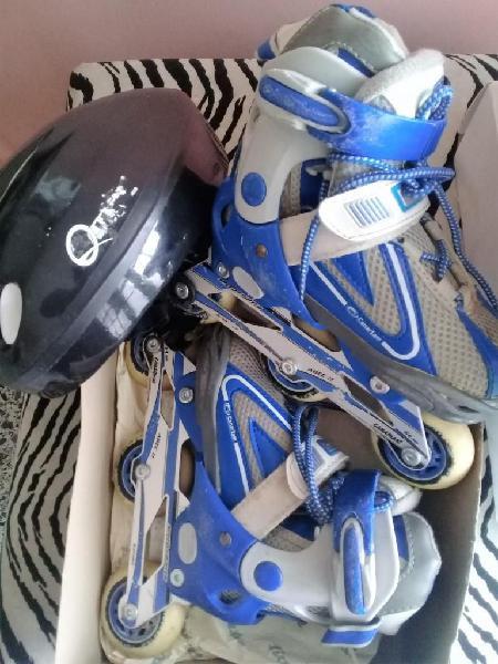 Patines en linea 3 ruedas para niño marca canariam usados