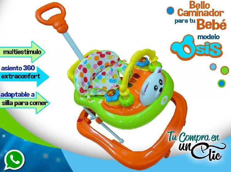 Andador de bebé músical, con silla 360 y adaptable para