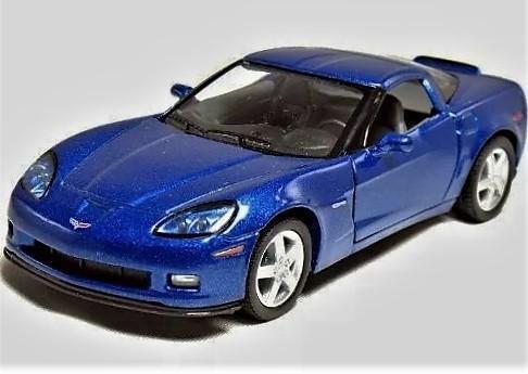 Carro de colección corvette 2007 escala 1/36. kinsmart. de