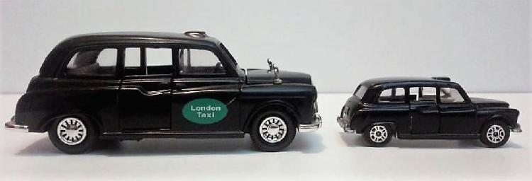 Carros de colección a escala. london taxi austin fx4 2 x