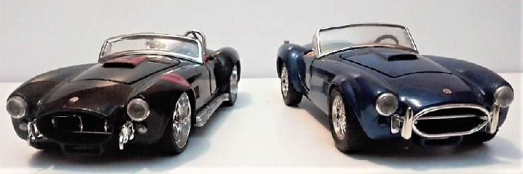 Carros de colección. escala 1/24. dos ford cobra 427 maisto