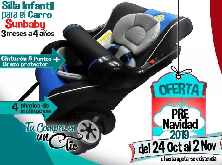 SILLA CARRO INFANTIL SUNBABY desde 3 meses a 4 años- Con 4