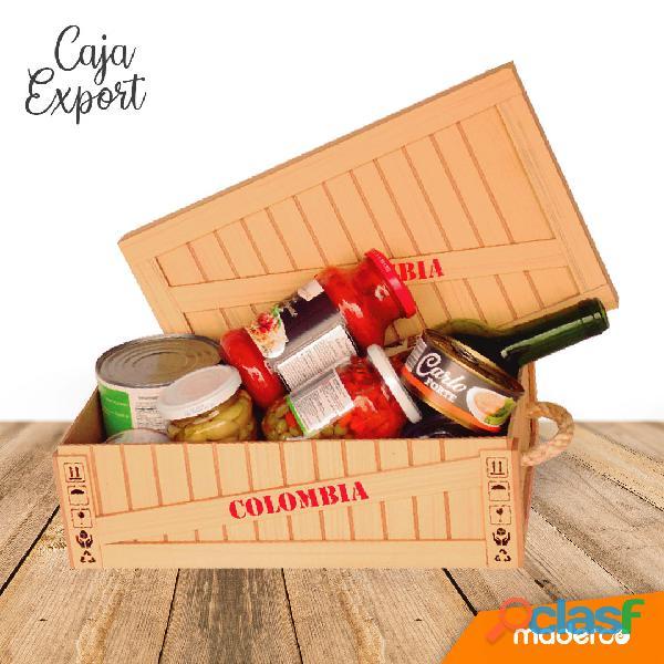 Caja de madera para empacar ancheta tipo export grande