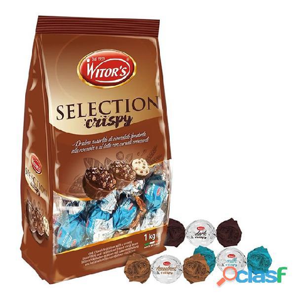 Chocolates witor´s crispy rellenos bolsa x 1 kilo (70 unds)
