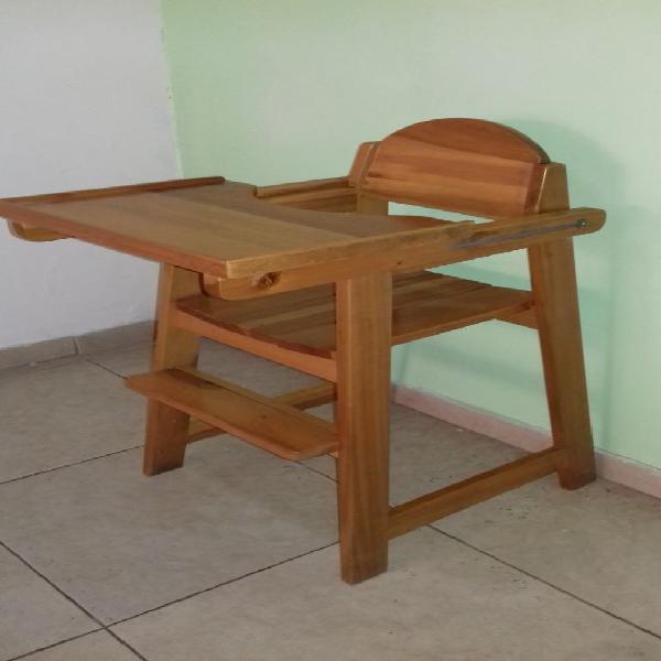 Venta silla alta para comedor de bebe en pino