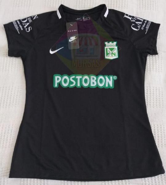Nueva camiseta suplente negra mujer atlético nacional 2019