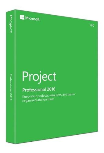 Licencia microsoft project pro 2016 32/64bits 1pc