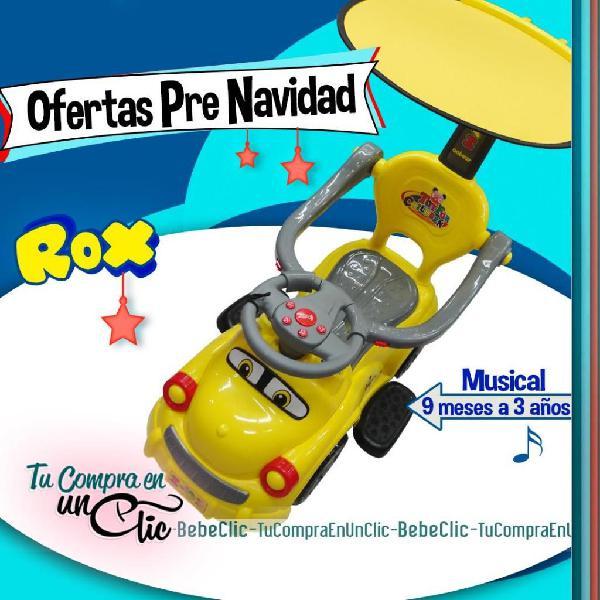 Carro paseador infantil modelo rox y roxie, música y