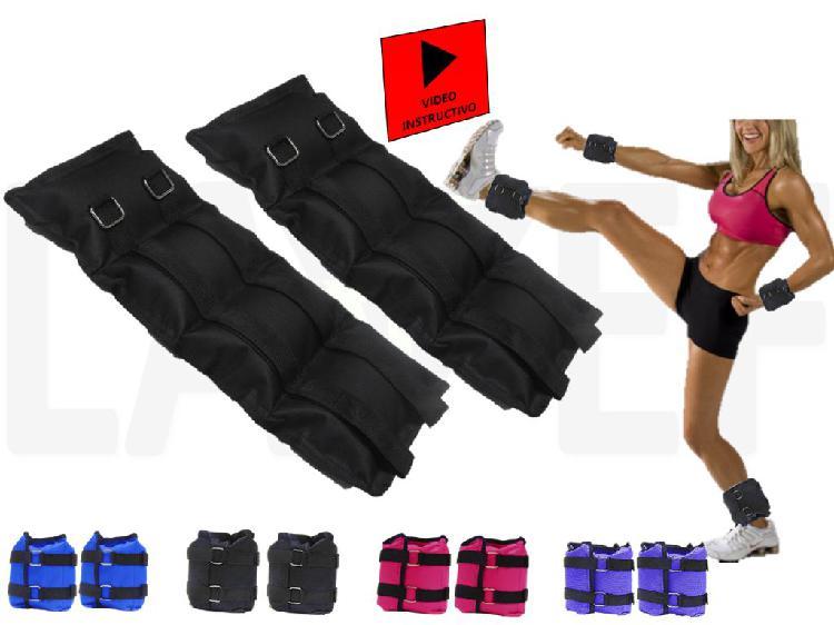 Pesas tobilleras kit 2 pesas 5k (10 libras) deporte-fitness.