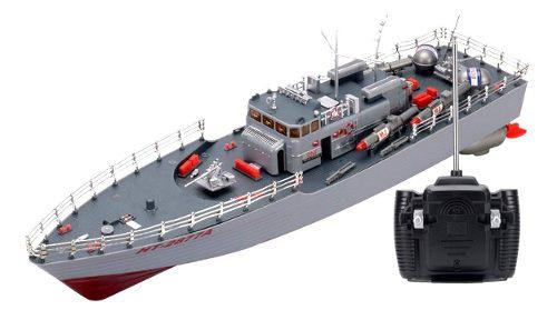 Rc Missile Warship Radio Control Remoto Ht Rtr Barco...