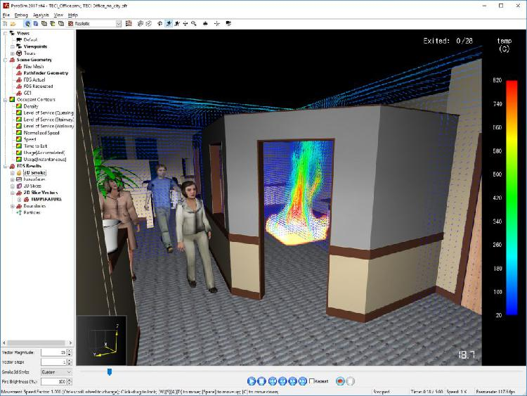 Programa software 3d pyrosimm & petrasim analizáis de