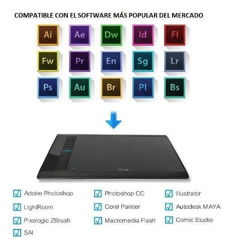 Tablet digitalizadora 10 win y mac ugee m708 entrega hoy!