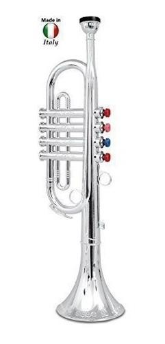 Trompeta Para Niños Plateada, 4 Teclas